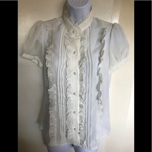 Jessica Max ,USA ,size M, white top short sleeves